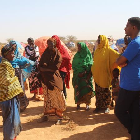 Auch die Frauen bekommen extra Schulung, um mit der Dürre in Ostafrika besser zurechtzukommen