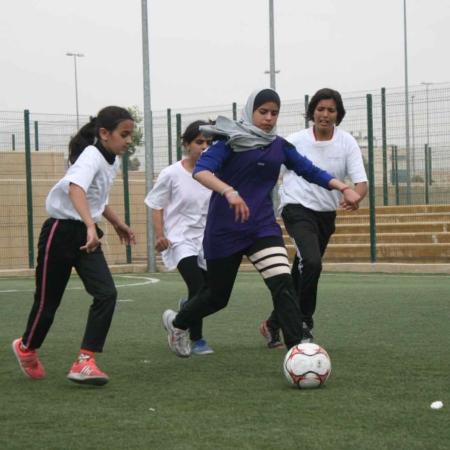 Geflüchtete Mädchen in Jordanien werden durch Fussball in ihrem Selbstvertrauen gestärkt