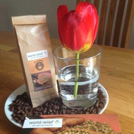 Wir verkaufen Kaffeebohnen aus dem Jemen, um die Bauern zu unterstützen