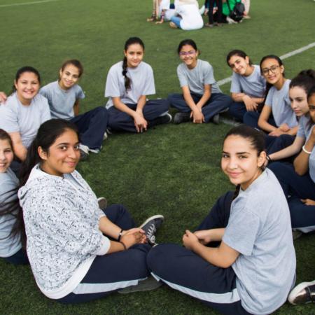 Fußball ist ein freudestiftender und Mut macheneder Teil im Leben dieser Mädchen