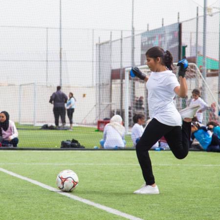 Vorbereitung auf den Abstoss: Mädchenfußball in Jordanien