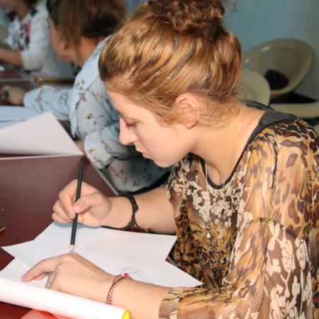 Junge Erwachsene im Irak, Bilder zeichnen
