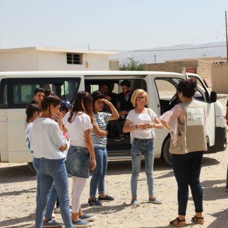 Junge Iraker involviert in lokales Projekt