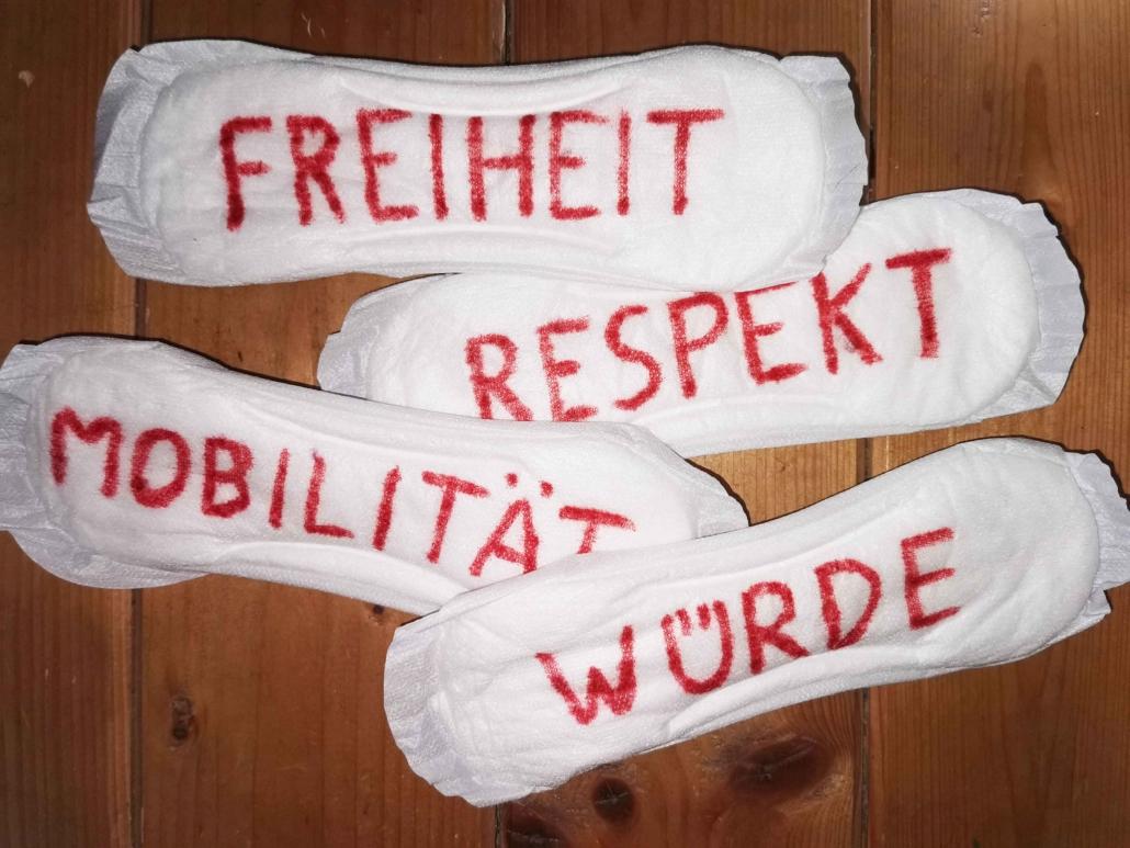 Menstruation - Freiheit, Respekt, Würde, Mobilität