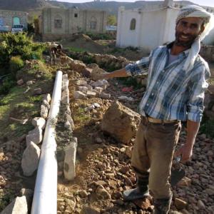 Jemen: Hilfe bei Installation von Ab-/Wasserleitungen, Verbesserung der Hygiene