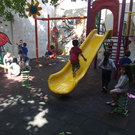 Der Spielplatz im Innenhof