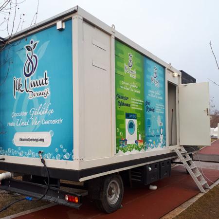 Corona Hilfe Türkei - Das Waschmobil
