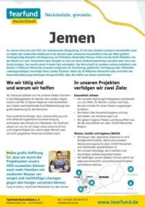 Projektpatenschaft Länderflyer Jemen