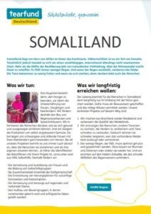 Projektpatenschaft Länderflyer Somaliland