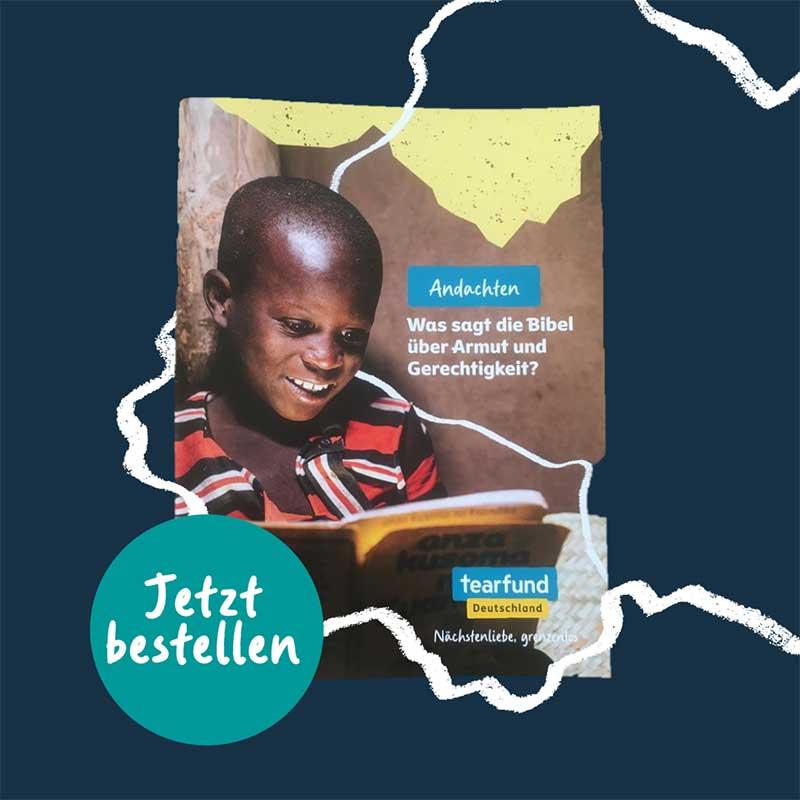 Andachtsheft von Tearfund Deutschland - christliche Hilfsorganisation