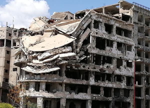 Wiederaufbau in Syrien - Zerstörte Häuser