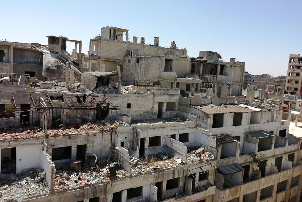 Hilfe für Syrien - Zerstörung von Häusern